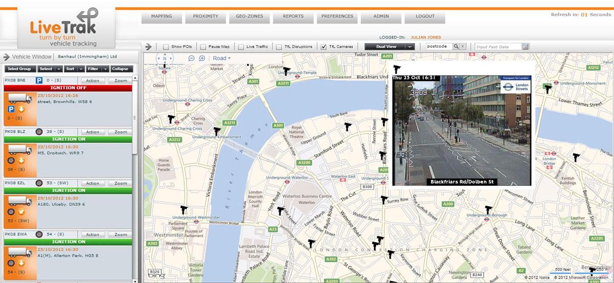 Livetrak :: Live web based vehicle tracking system
